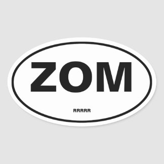 Zombie Oval Sticker