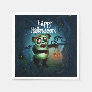 Zombie Panda Halloween Forest Disposable Napkin