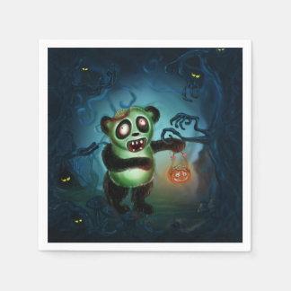 Zombie Panda Halloween Forest Disposable Napkins