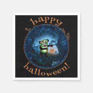 Zombie Panda Spooky Hollow Disposable Napkins