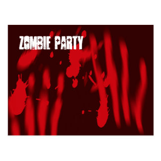 Zombie Party Invitation Postcard