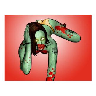 Zombie Pin-Up Postcard