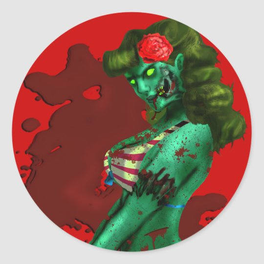 Zombie Pin-up Sticker