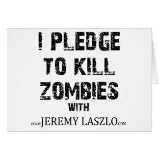 Zombie Pledge Merch Card