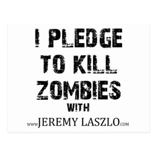 Zombie Pledge Merch Postcard