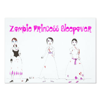 Zombie Princess Sleepover Card