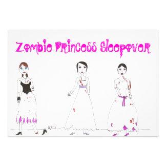 Zombie Princess Sleepover Personalized Announcement