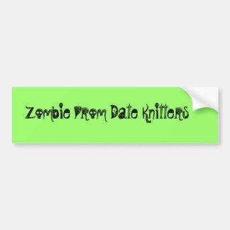 Zombie Prom Date Knitters Bumper Sticker