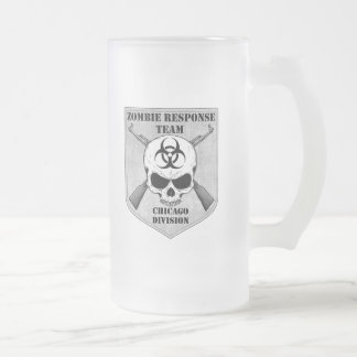 Zombie Response Team: Chicago Division Frosted Glass Beer Mug