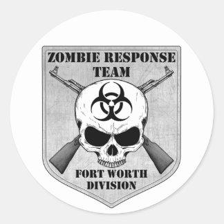 Zombie Response Team: Fort Worth Division Round Sticker