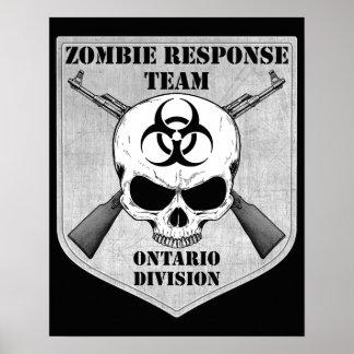 Zombie Response Team: Ontario Division Poster