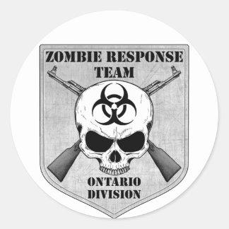 Zombie Response Team: Ontario Division Round Sticker
