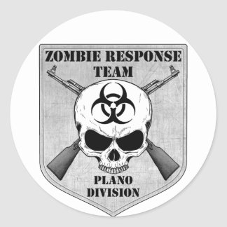 Zombie Response Team: Plano Division Classic Round Sticker