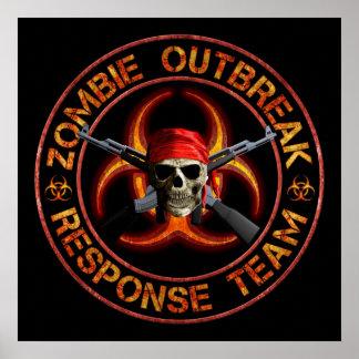 Zombie Response Team Print