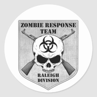 Zombie Response Team: Raleigh Division Classic Round Sticker