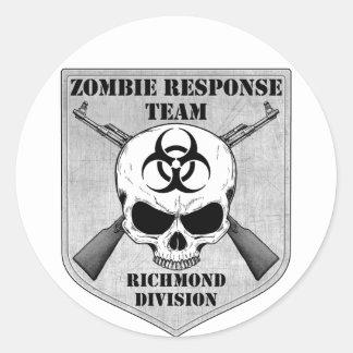 Zombie Response Team: Richmond Division Round Sticker