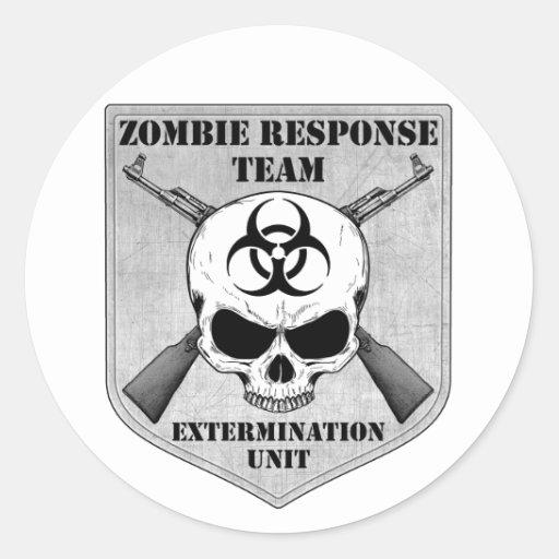 Zombie Response Team Round Sticker