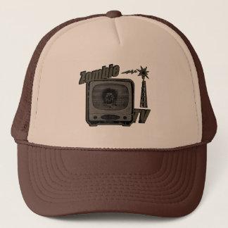 Zombie Retro TV-Style 3 Off Yellow/Grey Trucker Hat