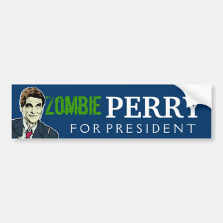 Zombie Rick Perry For President Bumper Sticker
