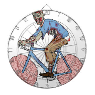 Zombie Riding Bike With Brain Wheels Dartboard