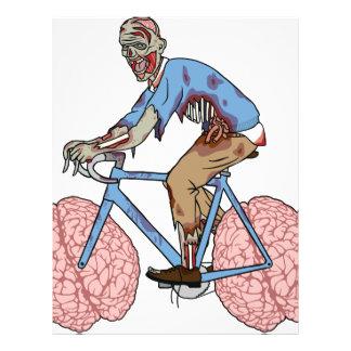 Zombie Riding Bike With Brain Wheels Letterhead