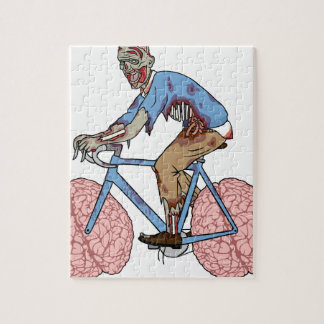 Zombie Riding Bike With Brain Wheels Puzzle