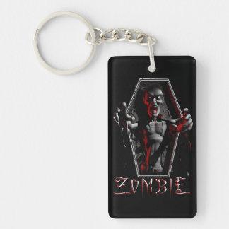 Zombie Rising Single-Sided Rectangular Acrylic Keychain