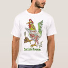 Zombie Rooster Chicken Halloween Art T-Shirt