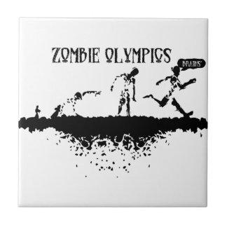 Zombie Run Ceramic Tile