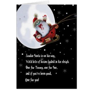 zombie santa card