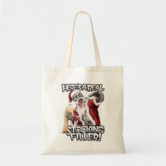 Zombie Santa Christmas Horror Budget Tote Bag