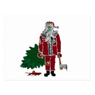 Zombie Santa Claus Postcard