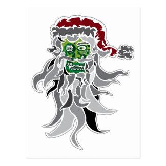 Zombie Santa Claus Postcards