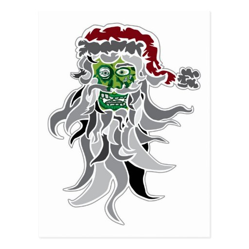 Zombie Santa Claus Postcards