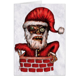 Zombie Santa - Greeting Card