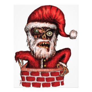 Zombie Santa Letterhead Template