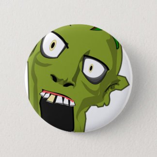 Zombie Scary Dead Halloween Face Cartoon 2 Inch Round Button