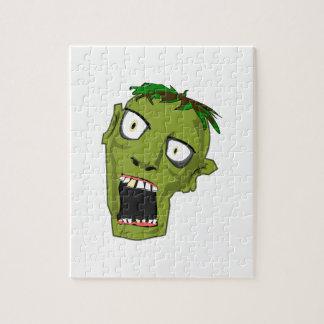 Zombie Scary Dead Halloween Face Cartoon Jigsaw Puzzle