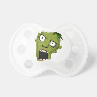 Zombie Scary Dead Halloween Face Cartoon Pacifiers