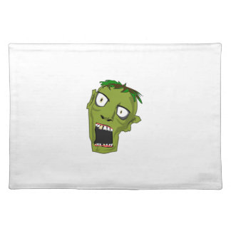 Zombie Scary Dead Halloween Face Cartoon Placemat