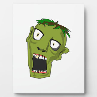 Zombie Scary Dead Halloween Face Cartoon Plaque