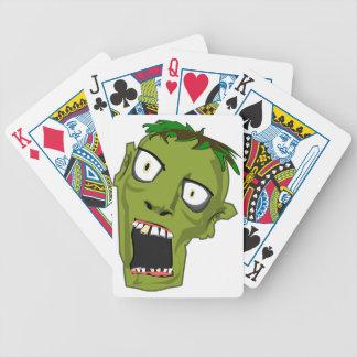Zombie Scary Dead Halloween Face Cartoon Poker Deck