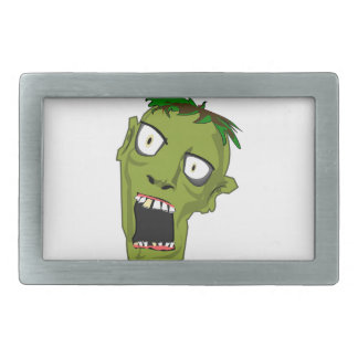 Zombie Scary Dead Halloween Face Cartoon Rectangular Belt Buckles