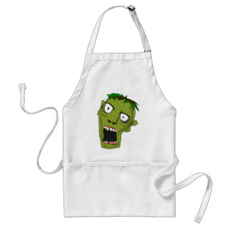 Zombie Scary Dead Halloween Face Cartoon Standard Apron