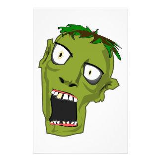 Zombie Scary Dead Halloween Face Cartoon Stationery