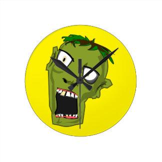 Zombie Scary Dead Halloween Face Cartoon Wall Clocks