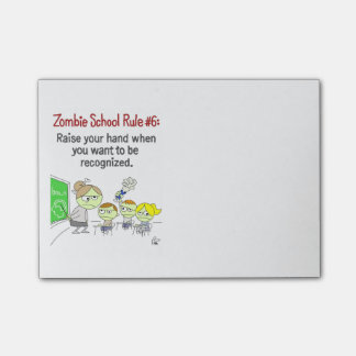 Zombie School Post-It Notepad