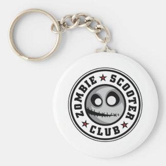 Zombie Scooter Club Keychain