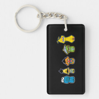 Zombie Sesame Street Characters Double-Sided Rectangular Acrylic Keychain