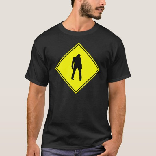 Zombie Shirt - Zombie Warning Sign